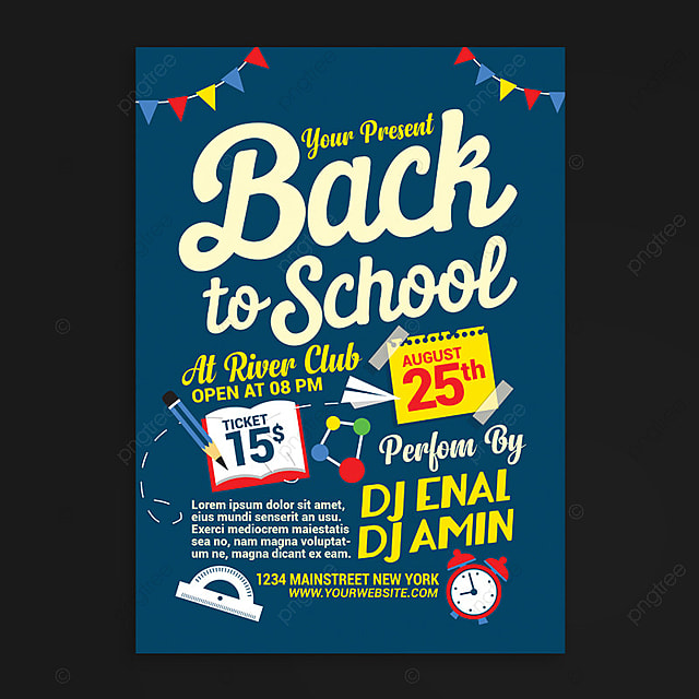 Back To School Flyer Template Template For Free Download On Pngtree
