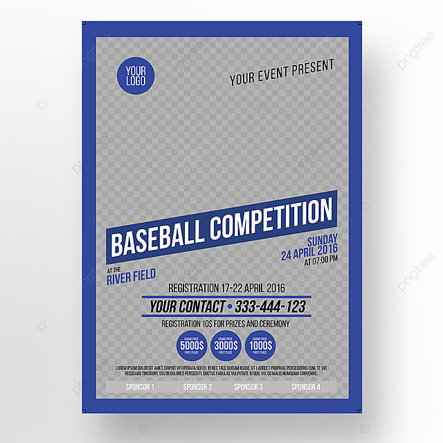 Baseball Competition Poster Flyer Template For Free Download On Pngtree