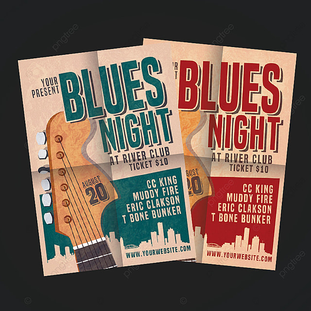 Blues Night Flyer Template For Free Download On Pngtree