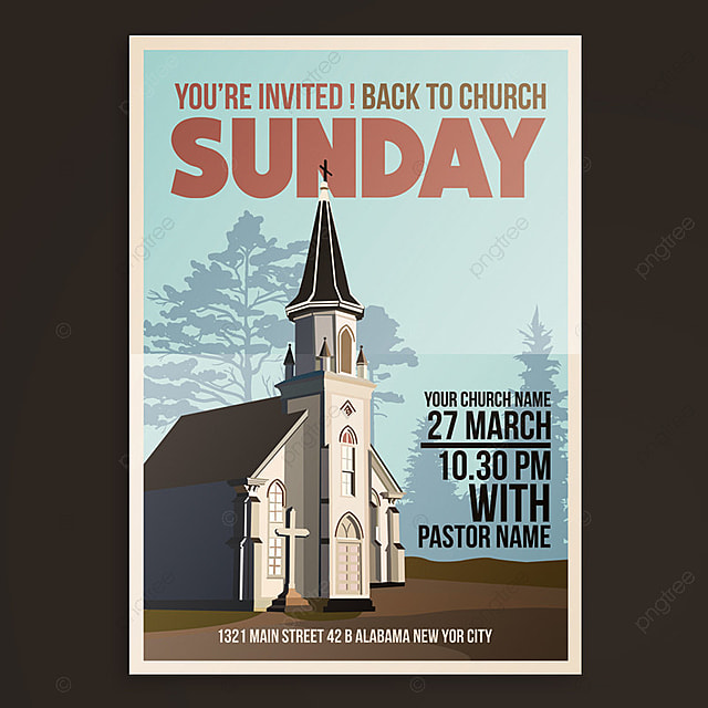 church event flyer template for free download on pngtree