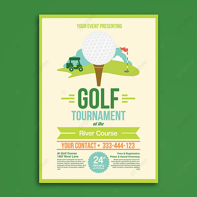 Golf Tournament Flyer Tamplate Template For Free Download On Pngtree