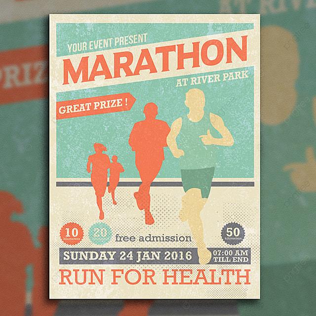 maratona event flyer template modelo para download gratuito no pngtree