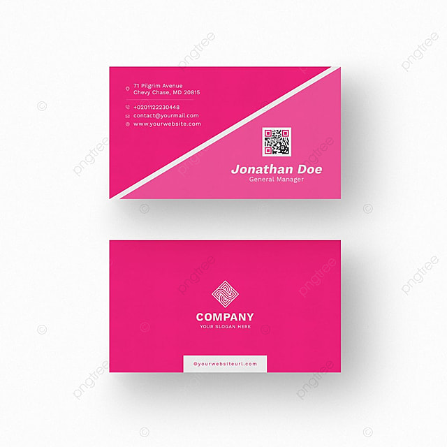 White business card with pink details template for free download on white business card with pink details template accmission Gallery