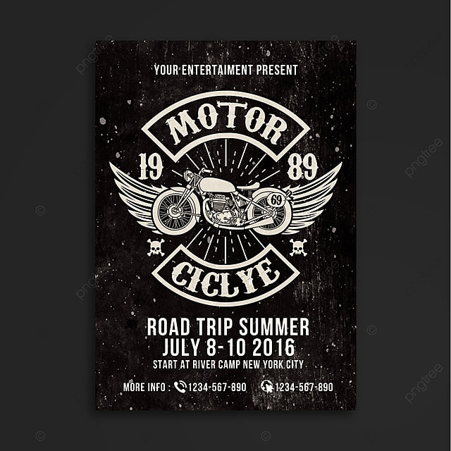 motorcycle club event template for free download on pngtree