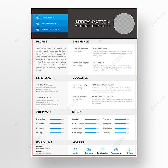 Creative Resume Stationery Vorlage Zum Kostenlosen Download Auf Pngtree