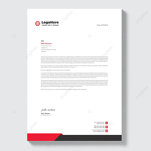business letterhead stationery template for free download