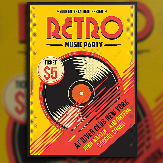Retro Music Flyer Template For Free Download On Pngtree