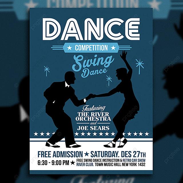 pngtreeにスイング ダンス ポスター フライヤーテンプレートの無料