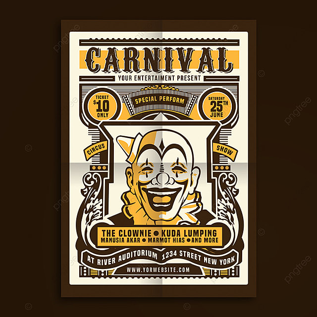 Vintage Circus Carnival Poster Template