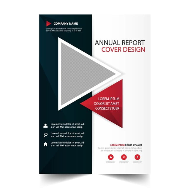 Red Annual Report Brochure Template Template For Free Download On