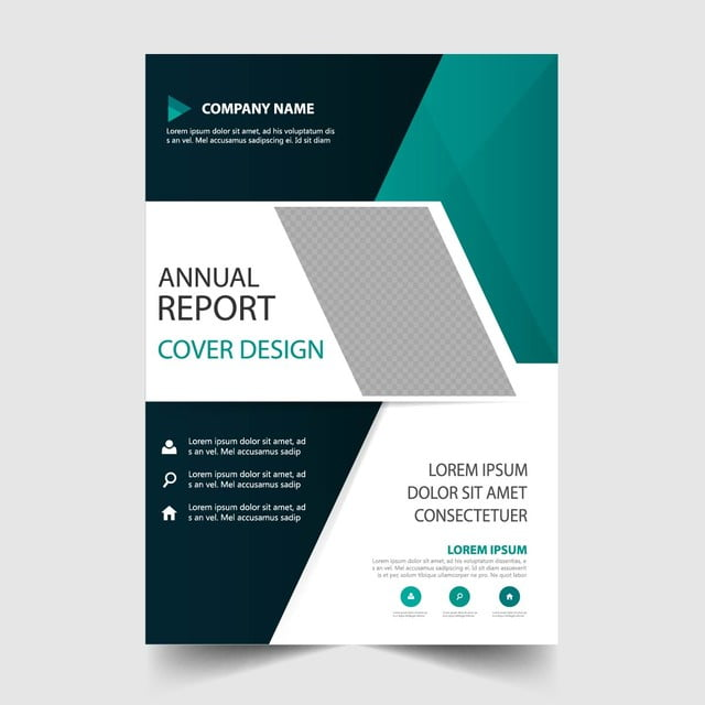 green annual report template template for free download on pngtree