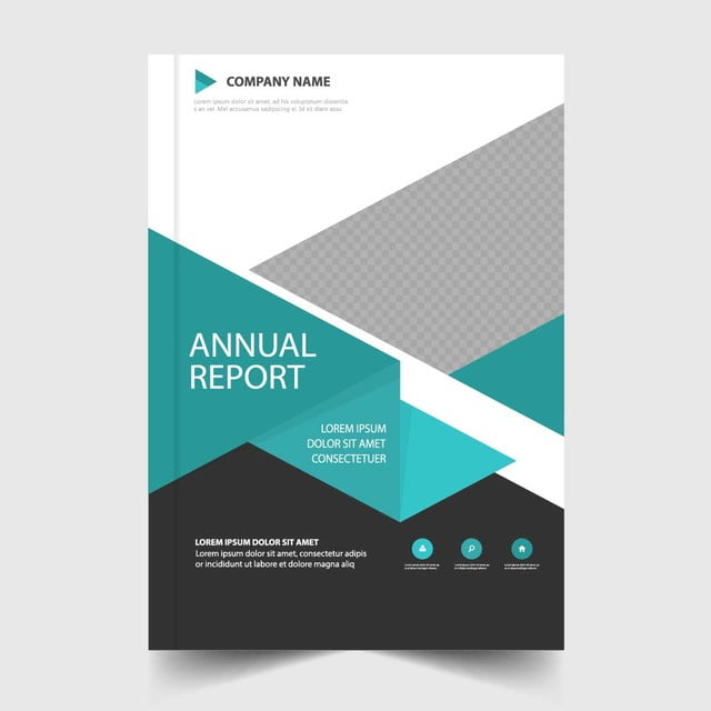 blue annual report cover template template for free