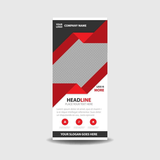 business roll up banner template template for free download on pngtree