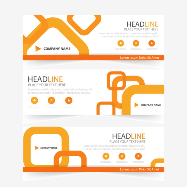 Abstract orange business banner template template for free download abstract orange business banner template template flashek Choice Image