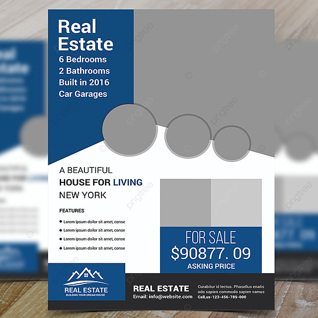 real estate flyer psd template for free download on pngtree