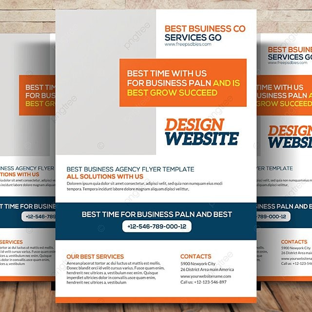 website design flyer template for free download on pngtree