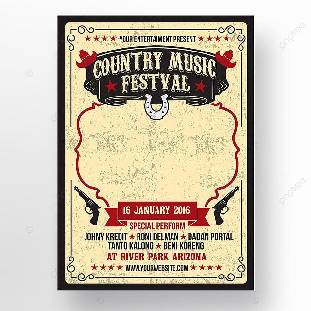 74da24dd39c0f Cartel del Festival de música country Descarga gratuita de plantilla ...