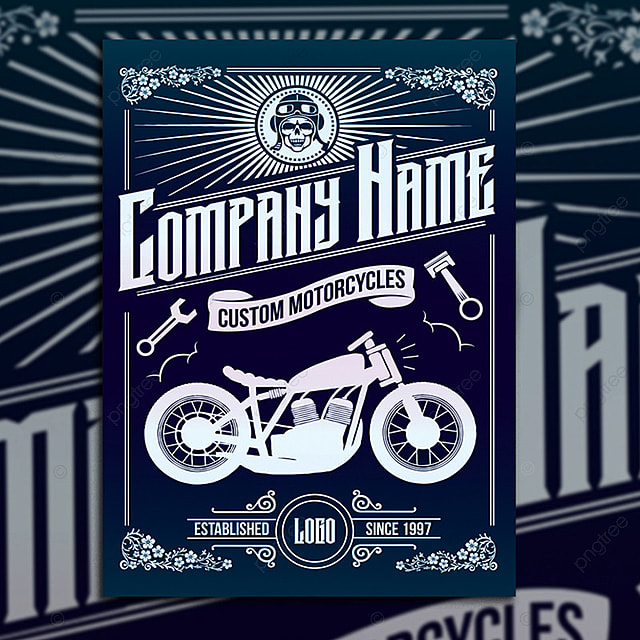 custom motorcycle poster flyer template for free download on pngtree