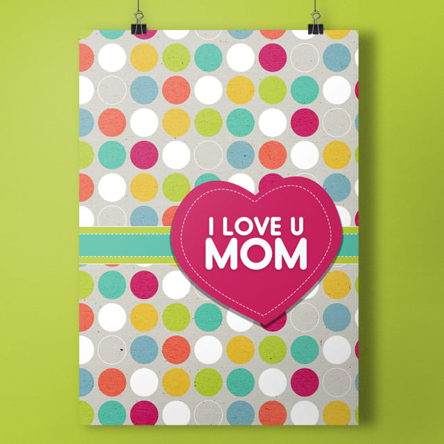 Cute I Love U Mom Card Invitation Template For Free Download On Pngtree