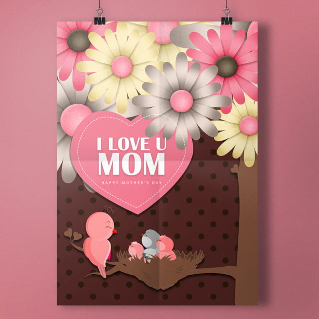 I Love U Mom Card Template For Free Download On Pngtree