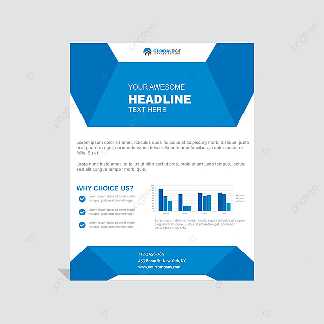 business brochure template template for free download on pngtree