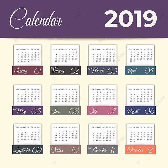 calendrier 2019 mod u00e8le de t u00e9l u00e9chargement gratuit sur pngtree