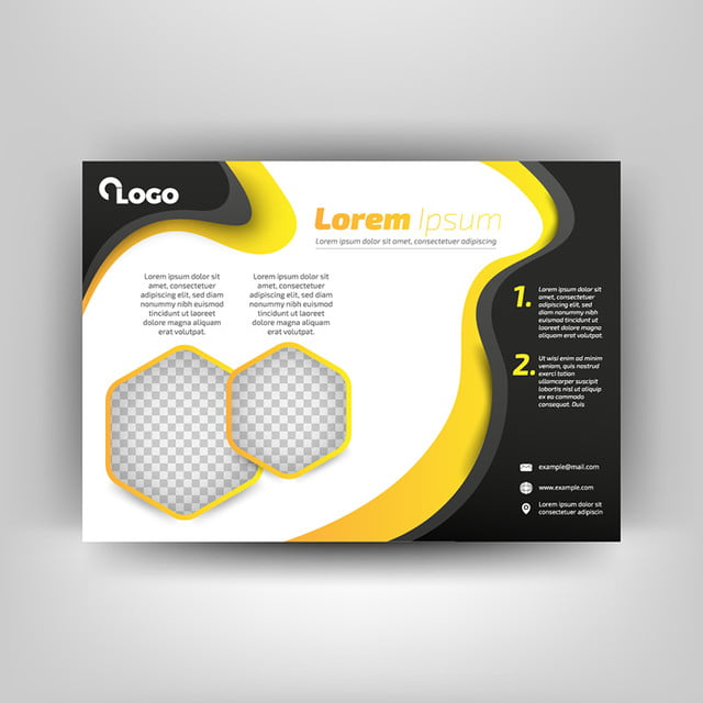 Black And Yellow Business Flyer Template Template For Free Download