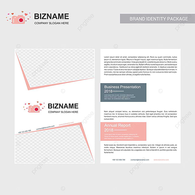company brochure with elegent design and also with camera