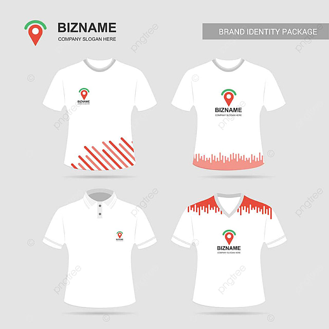 Company T Shirt Design With Logo And Typography Vector Template For