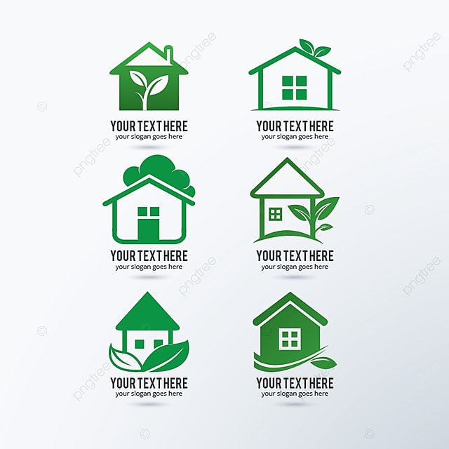 House Rentals Companies: Green House Logo Design Template For Free Download On Pngtree