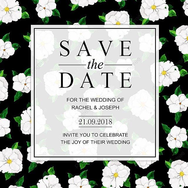 Watercolor Floral Wedding Invitation Card Szablon Do