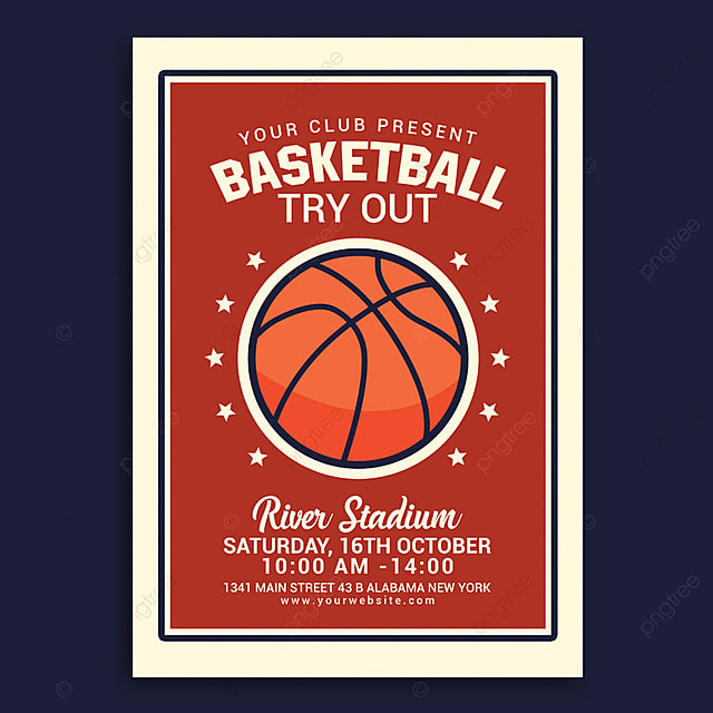 basketball tryout flyer template for free download on pngtree