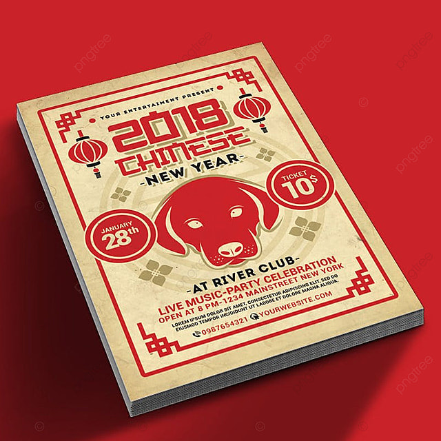 chinese new year 2018 template