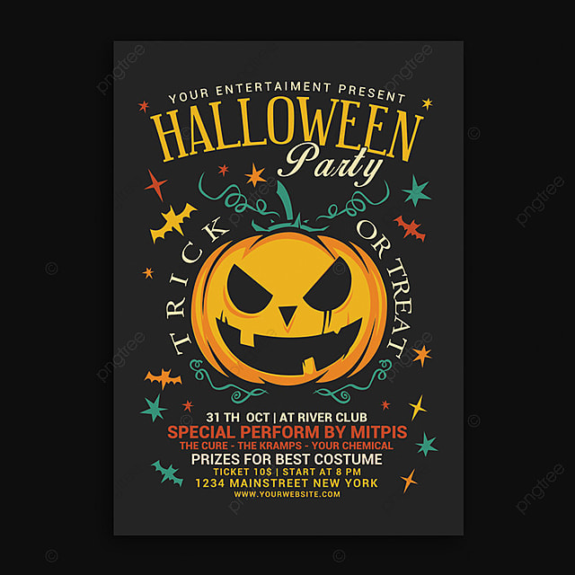 pngtreeにhalloween party flyerテンプレートの無料ダウンロード