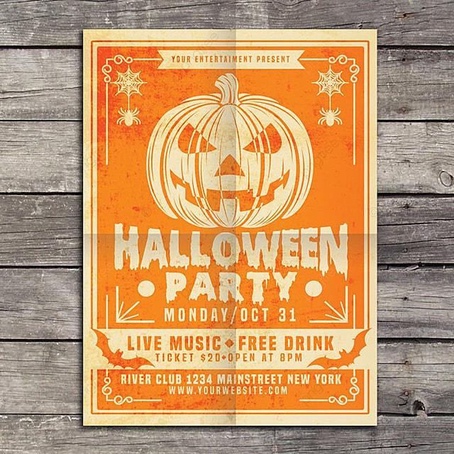 pngtreeにhalloween party vintageテンプレートの無料ダウンロード
