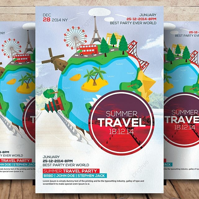 Summer Travel Tour Flyer Template For Free Download On Pngtree