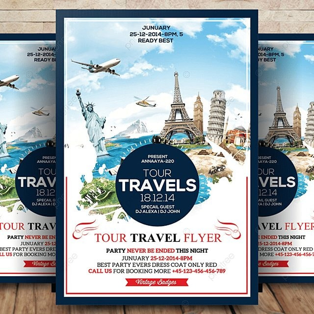 Travel Tour Flyer Template For Free Download On Pngtree