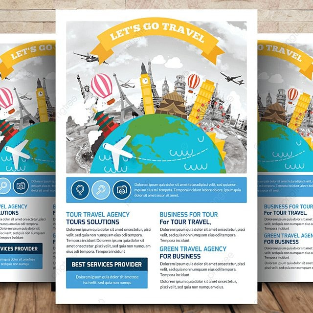 business travel tour flyer template for free download on
