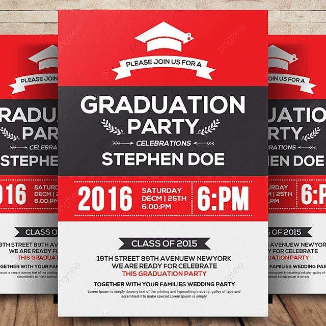 Graduation Party Flyer Template For Free Download On Pngtree