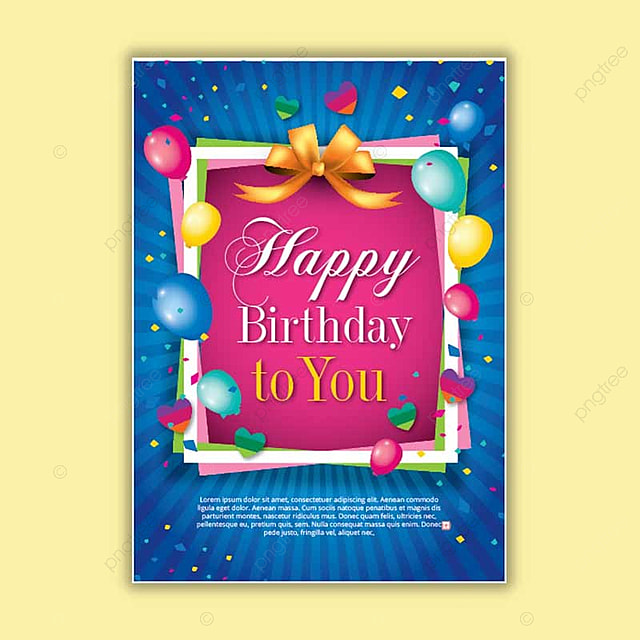 happy birthday congratulation template for free download on pngtree