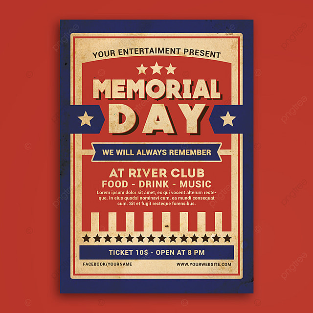 Memorial Day Flyer Template For Free Download On Pngtree
