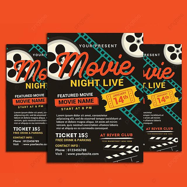 pngtreeにmovie night movie time flyerテンプレートの無料ダウンロード