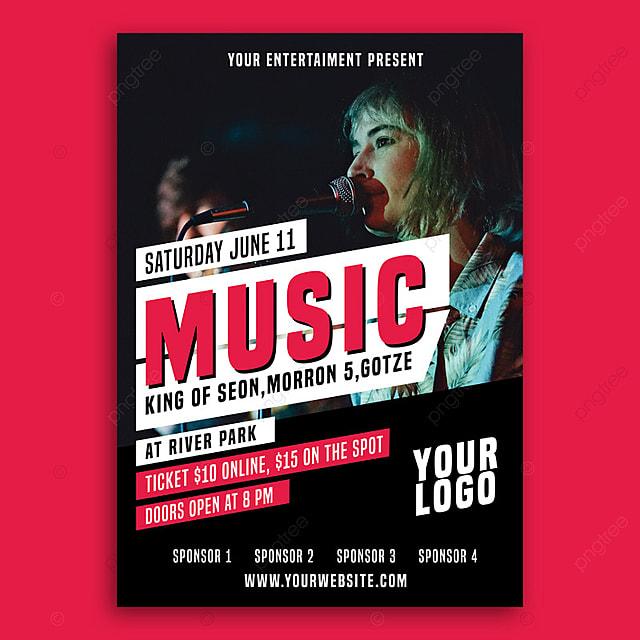 pngtreeにmusic concert flyerテンプレートの無料ダウンロード