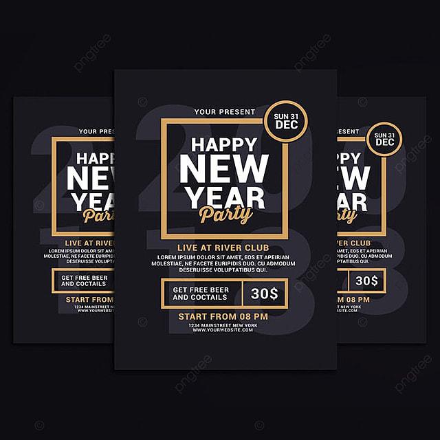 pngtreeにnew year party flyerテンプレートの無料ダウンロード