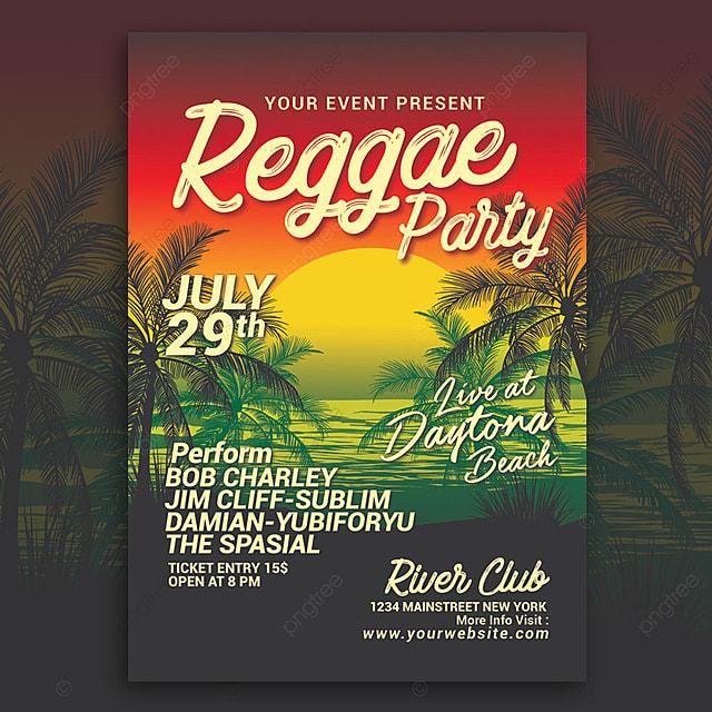 Reggae Music Beach Party Vorlage zum kostenlosen Download auf Pngtree