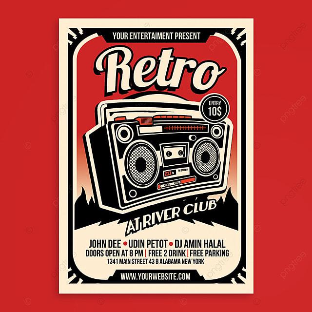 pngtreeにretro music radio flyer posterテンプレートの無料ダウンロード