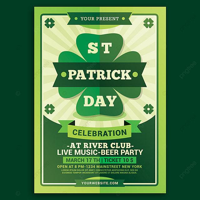 St Patricks Day Flyer Descarga gratuita de plantilla en Pngtree