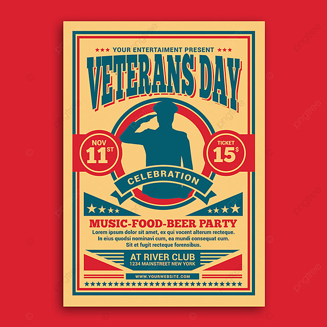veterans day flyer template for free download on pngtree