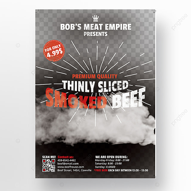 Smoked Ham Food Flyer Template Template For Free Download On Pngtree