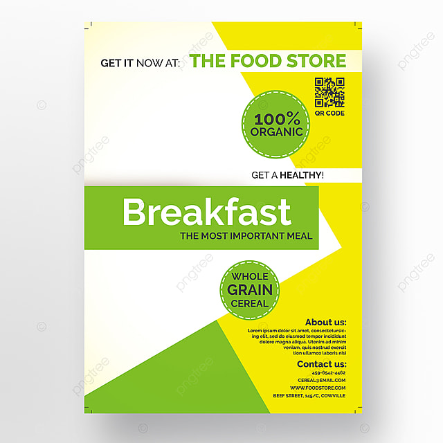 healthy breakfast flyer template template for free download on pngtree